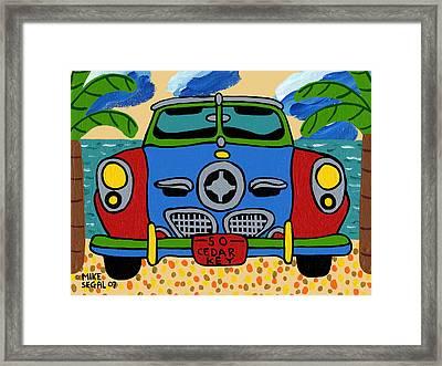 Beach Studebaker Framed Print