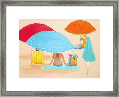 Beach Style Framed Print by Jan Matson