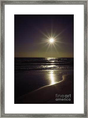 Beach Sun 2 Framed Print by Walt Foegelle