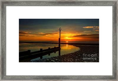Beach Sunset Framed Print