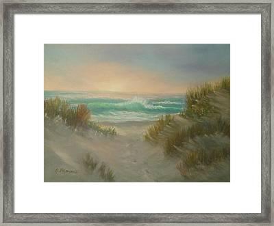 Cape Cod Beach Sunset Dunes Print  Framed Print
