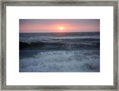 Beach Sunset Framed Print by Holly Blunkall