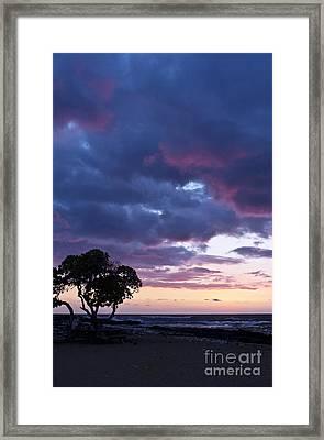 Beach Sunset Framed Print by Karl Voss