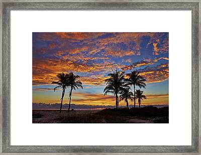 Beach Surnise Framed Print