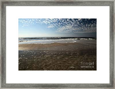 Beach Textures Framed Print by Adam Jewell