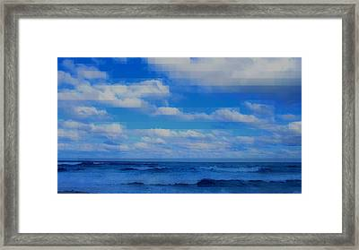 Beach Through Artificial Eyes Framed Print