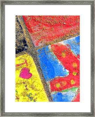 Beach Tiles Framed Print