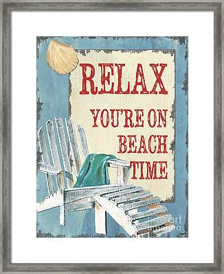 Beach Time 1 Framed Print by Debbie DeWitt