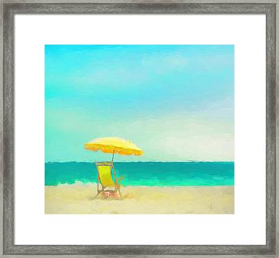 Framed Print featuring the painting Got Beach? by Douglas MooreZart