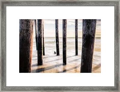 Beach Totems Framed Print