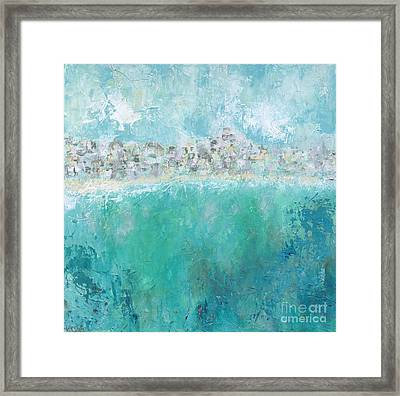 Beach Town Framed Print