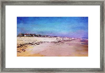 Beach Town Framed Print