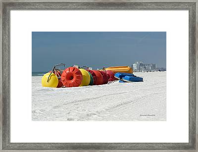 Beach Toys Framed Print by Gerald Marella