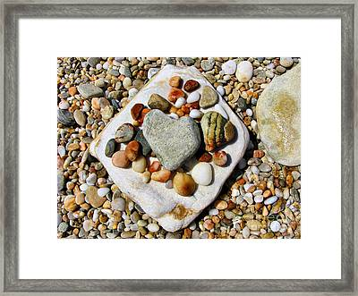 Beach Treasures Framed Print by Daliana Pacuraru