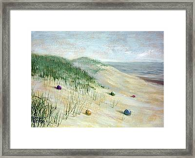 Beach Treasures Framed Print