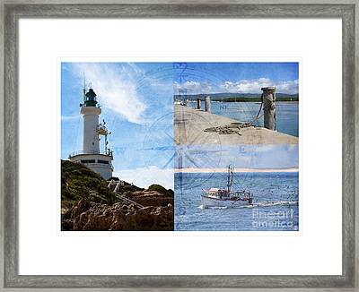 Beach Triptych 2 Framed Print