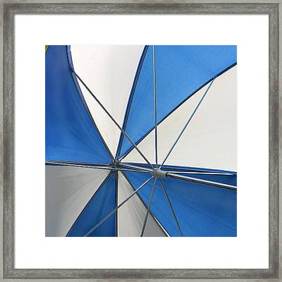 Beach Umbrella Framed Print by Art Block Collections