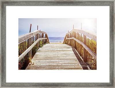 Beach View Framed Print by Elena Elisseeva