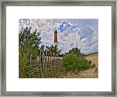 Beach View Of Barney Framed Print by Mark Miller
