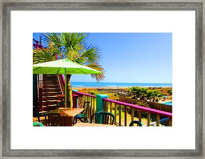 Beach View Of The Ocean By Jan Marvin Studios Framed Print