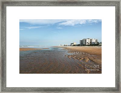 Framed Print featuring the photograph Beach Vista by Todd Blanchard