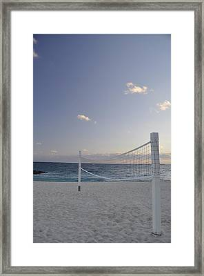 Beach Volleyball Framed Print by A R Williams
