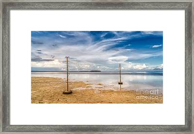 Beach Volleyball Framed Print