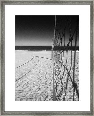 Beach Volleyball Net Framed Print