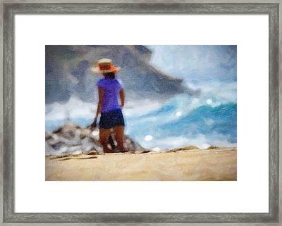 Beach Walk Art Framed Print