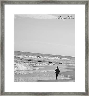Beach Walk Framed Print by Lorraine Heath