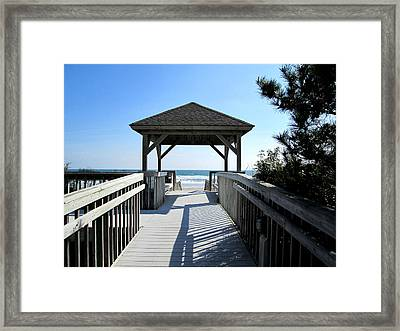Beach Walk Framed Print by Silvie Kendall