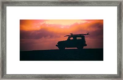 Beach Watch Framed Print