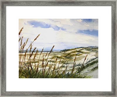 Beach Watercolor 3-19-12 Julianne Felton Framed Print by Julianne Felton