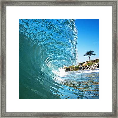Framed Print featuring the photograph Beach Wave by Paul Topp