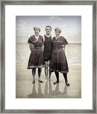 Beach Wear Fashion 1910 Framed Print