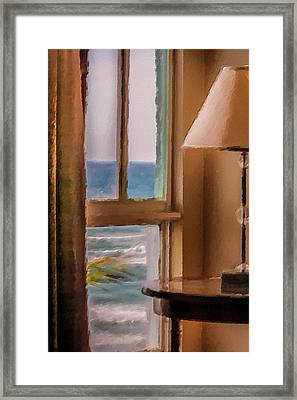 Beach Window Framed Print by Andrea  OConnell