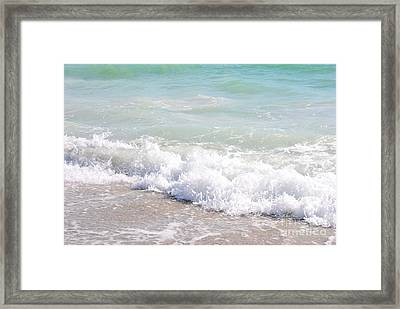 Framed Print featuring the photograph Surf And Sand by Margie Amberge