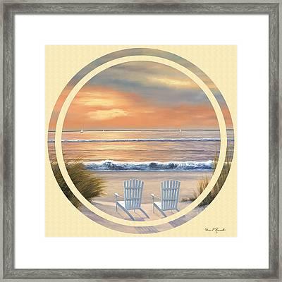 Beach World Framed Print by Diane Romanello