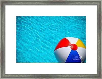 Beachball 1 Framed Print by Amy Cicconi