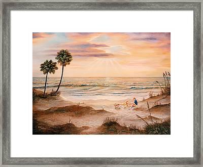 Beachcombers Framed Print by Duane R Probus