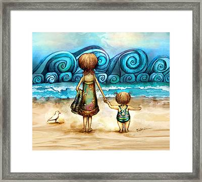 Beachcombers Framed Print by Karin Taylor