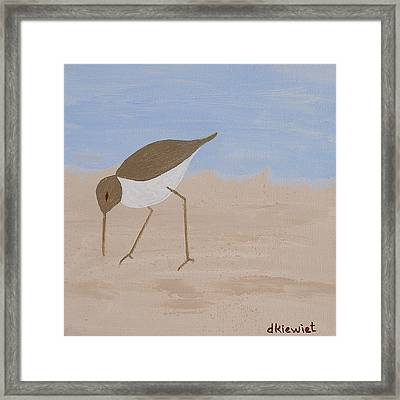 Right - Beachcombers Trio Framed Print by Debbie Kiewiet