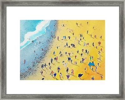Beachcombing Framed Print by Neil McBride