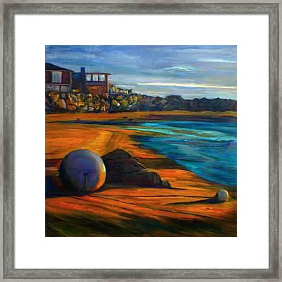 Beached Anchor Balls Framed Print