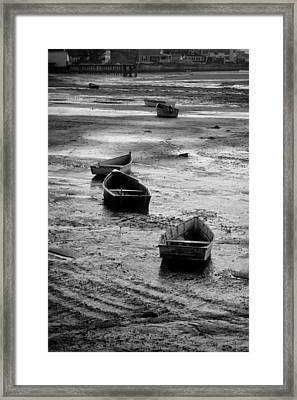 Beached Boats Framed Print by Gary Slawsky