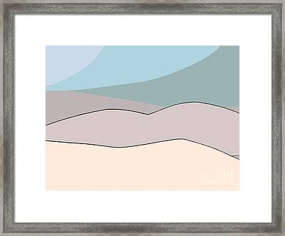 Beached Bodies Framed Print