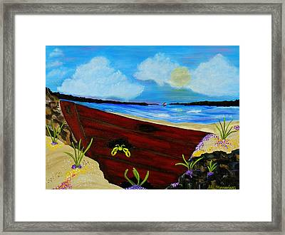 Beached Framed Print