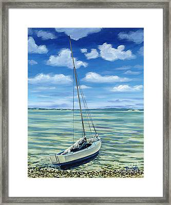 Beached Framed Print by Danielle  Perry