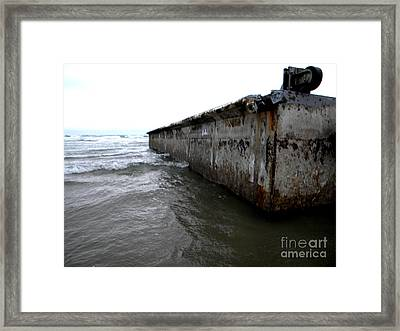 Beached Dock Framed Print by Thedustyphoenix