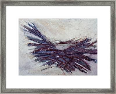 Beached Reeds Framed Print